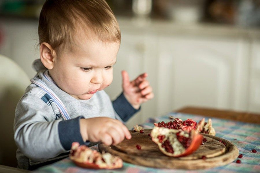 buah delima pada bayi